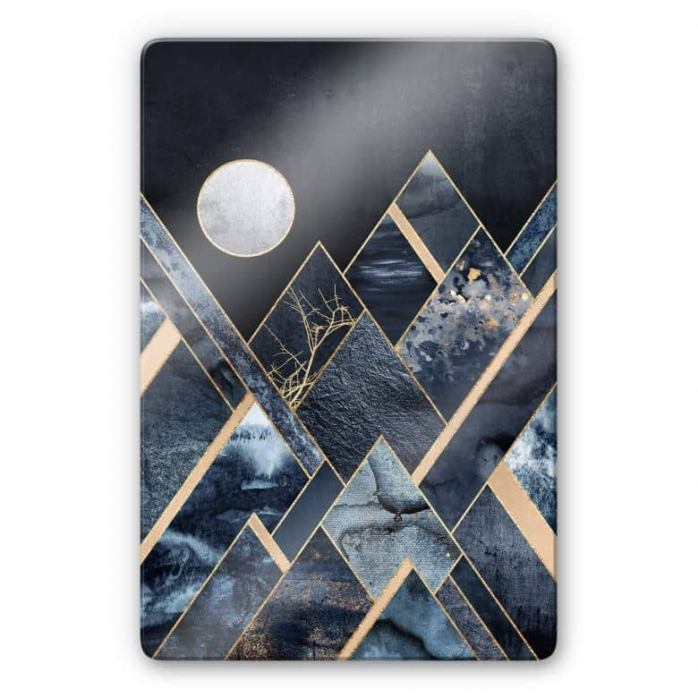 Glasbild Fredriksson - Nachthimmel