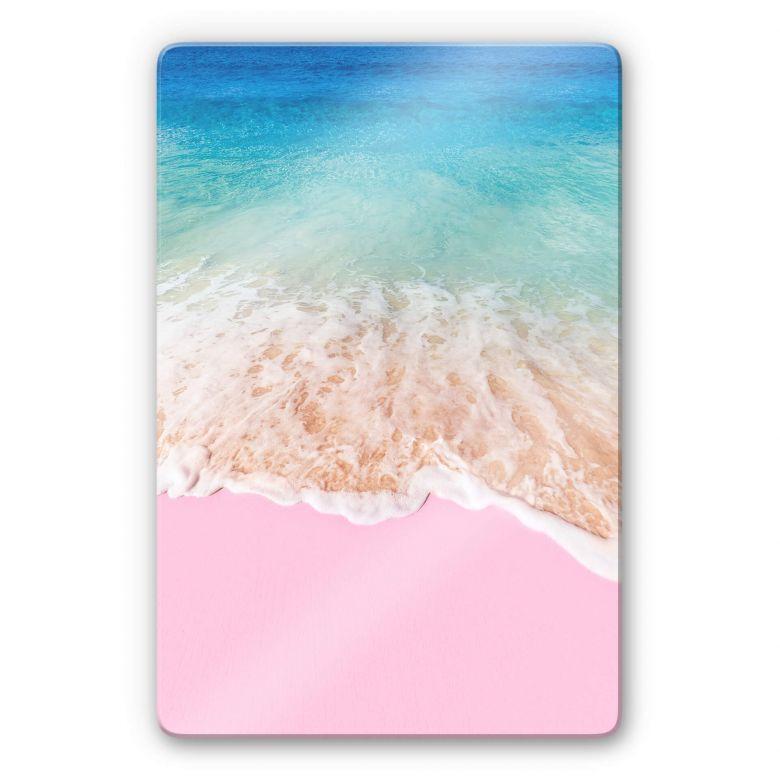 Glasbild Fuentes – Pink Sand