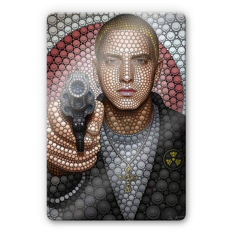Glasschilderij Ben Heine - Circlism: Eminem