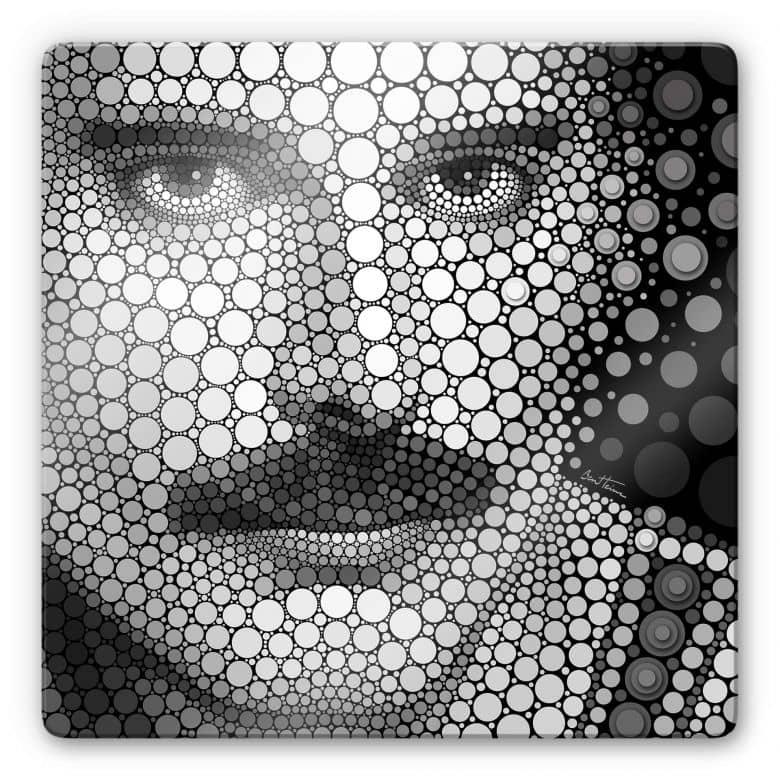 Glas Ben Heine - Circlism: Freddie Mercury