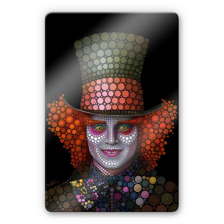 Glasschilderij Ben Heine - Circlism: Johnny Depp