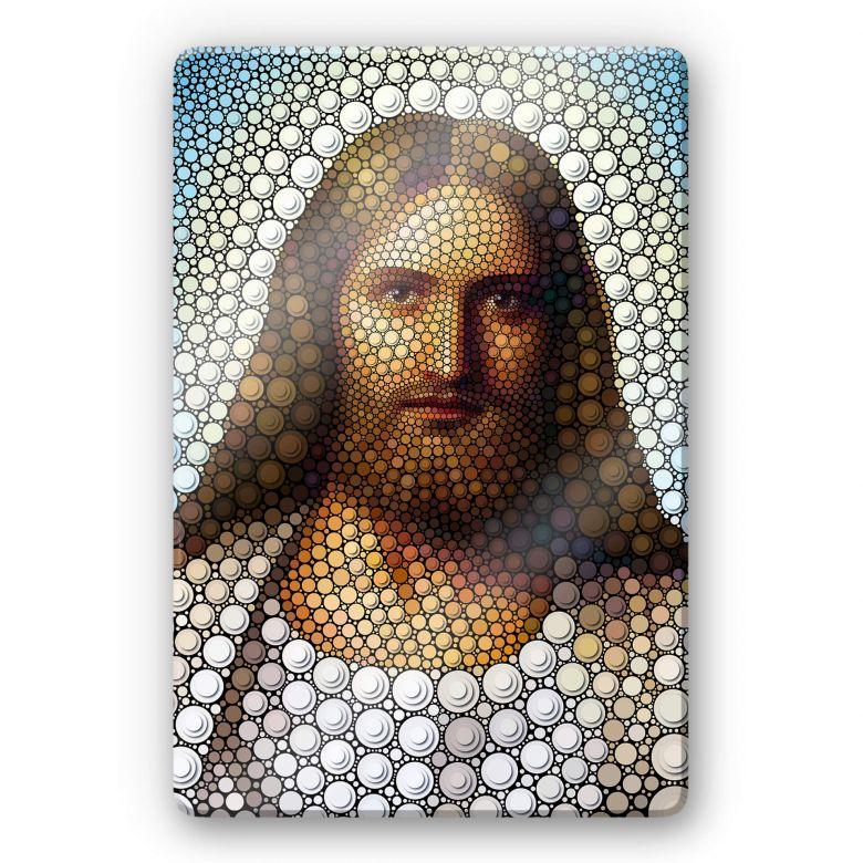 Glasschilderij Ben Heine - Circlism: Jesus Christ