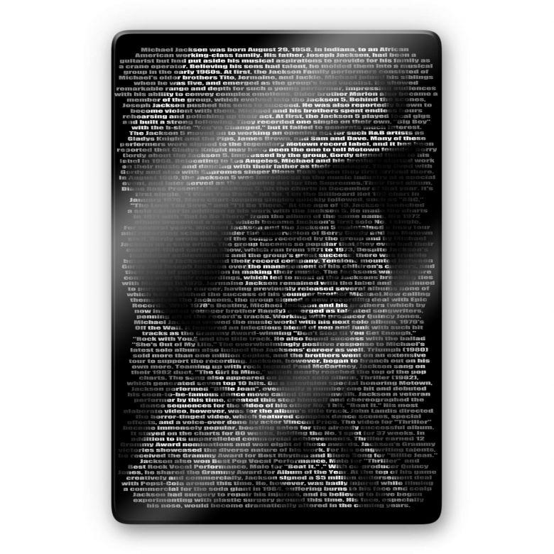 Glasschilderij Heine - Michael Jackson's Biografie