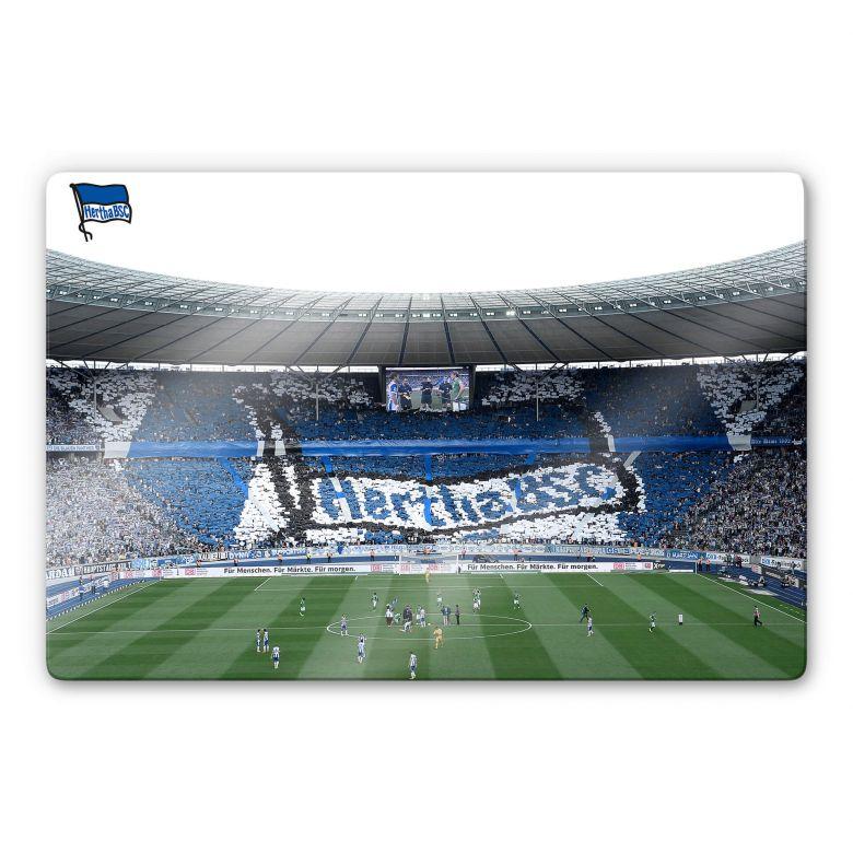 Glasbild Hertha BSC - Spielstart im Stadion