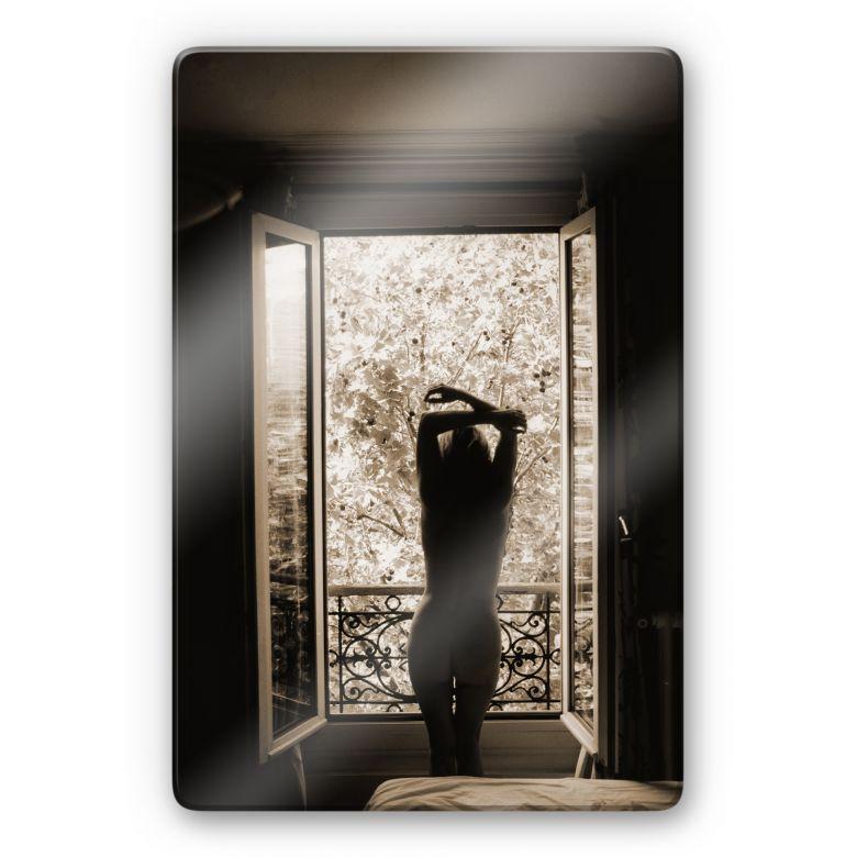 Glasbild der blick aus dem fenster wall for Fenster 60x80