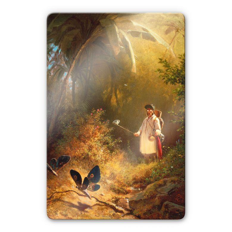 Tableau en verre - Spitzweg - L'attrapeur de papillons