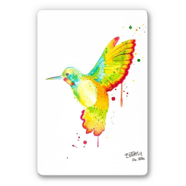Glasbild Buttafly - Kolibri