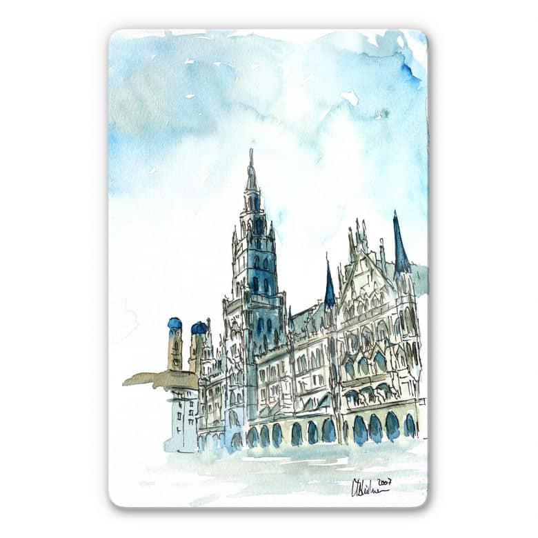 Glasbild Bleichner - Münchener Rathaus