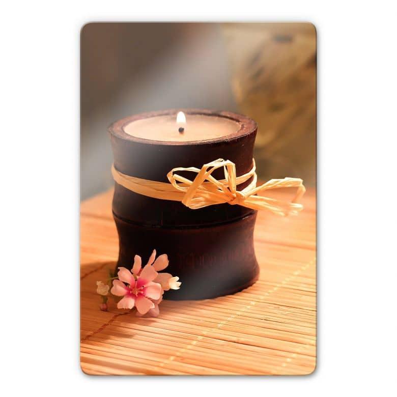 Glasbild Wellness Candle