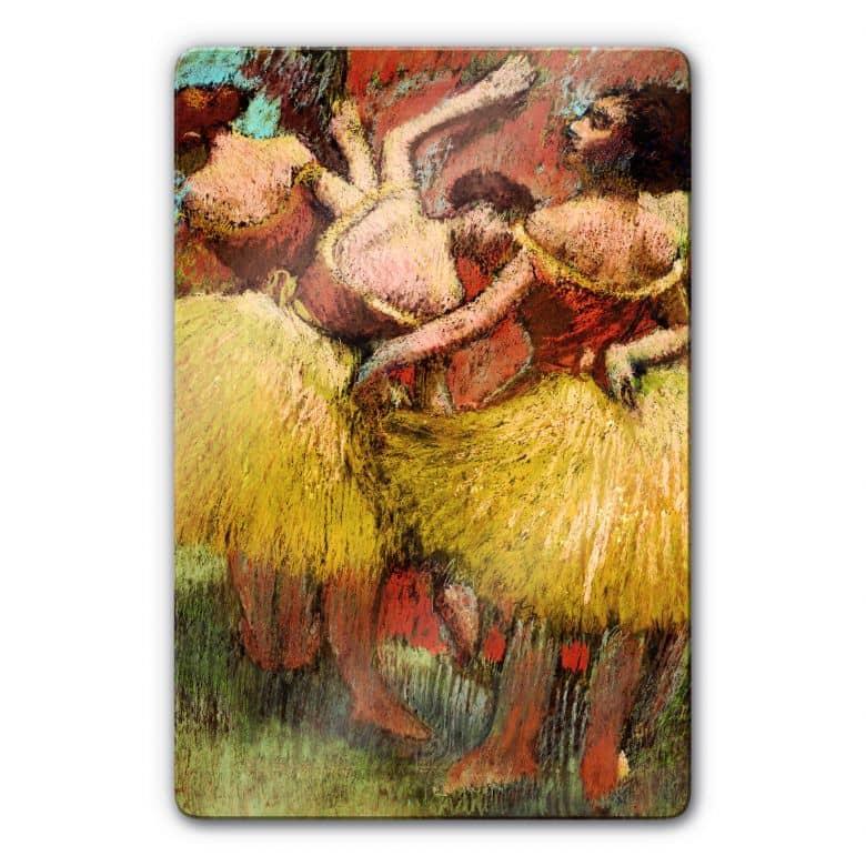 Glasbild Degas - Drei Tänzerinnen