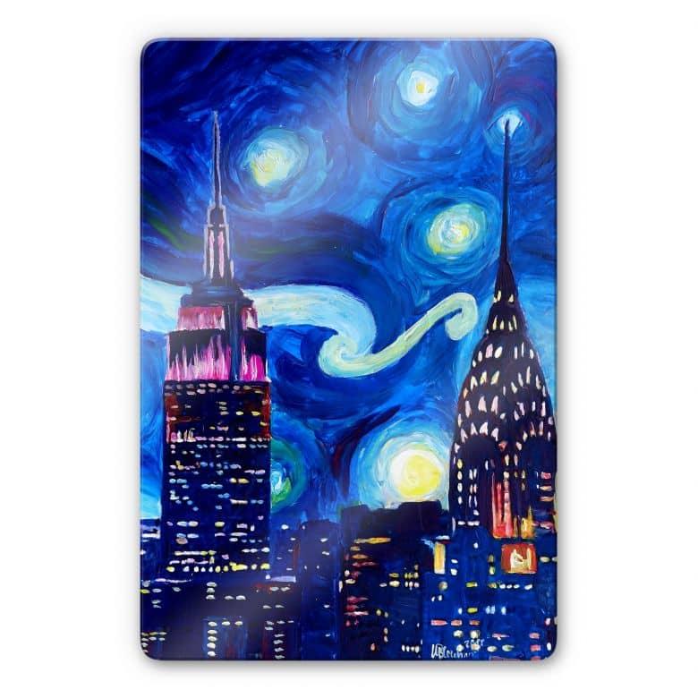 Glasbild Bleichner - New York bei Nacht