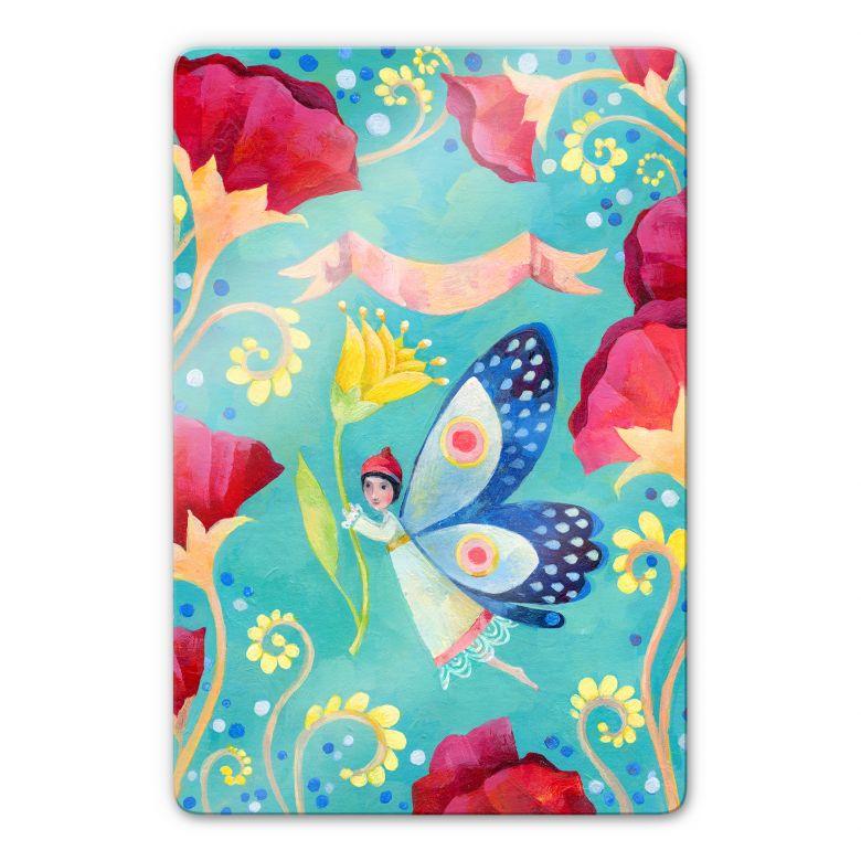 Glasbild Blanz - Schmetterling