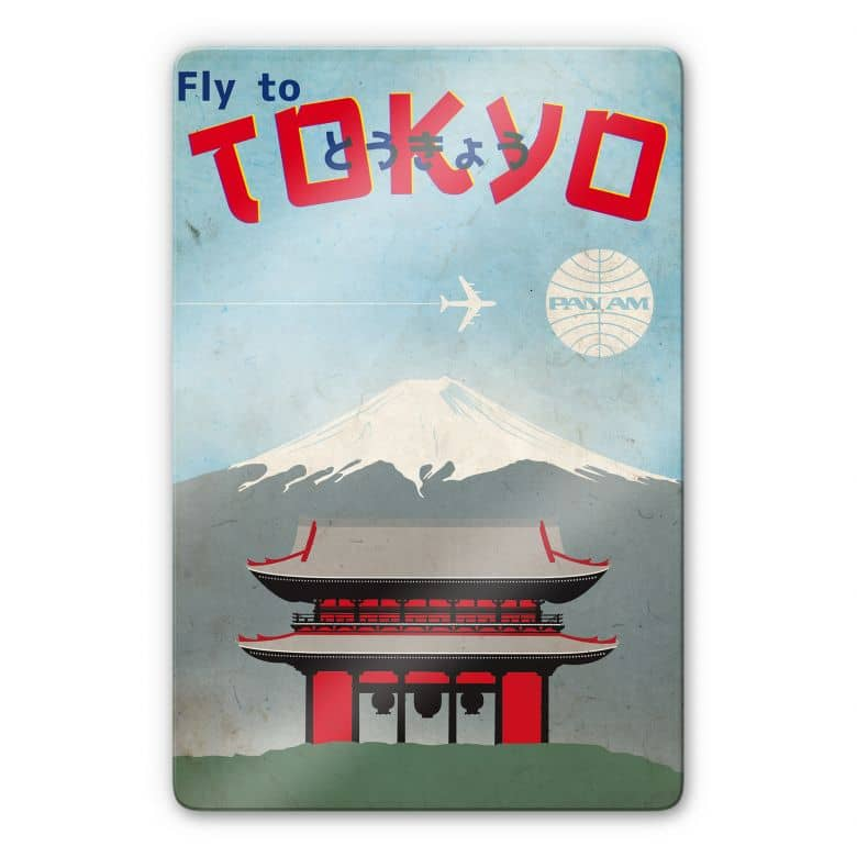 Glasbild PAN AM - Fly to Tokyo