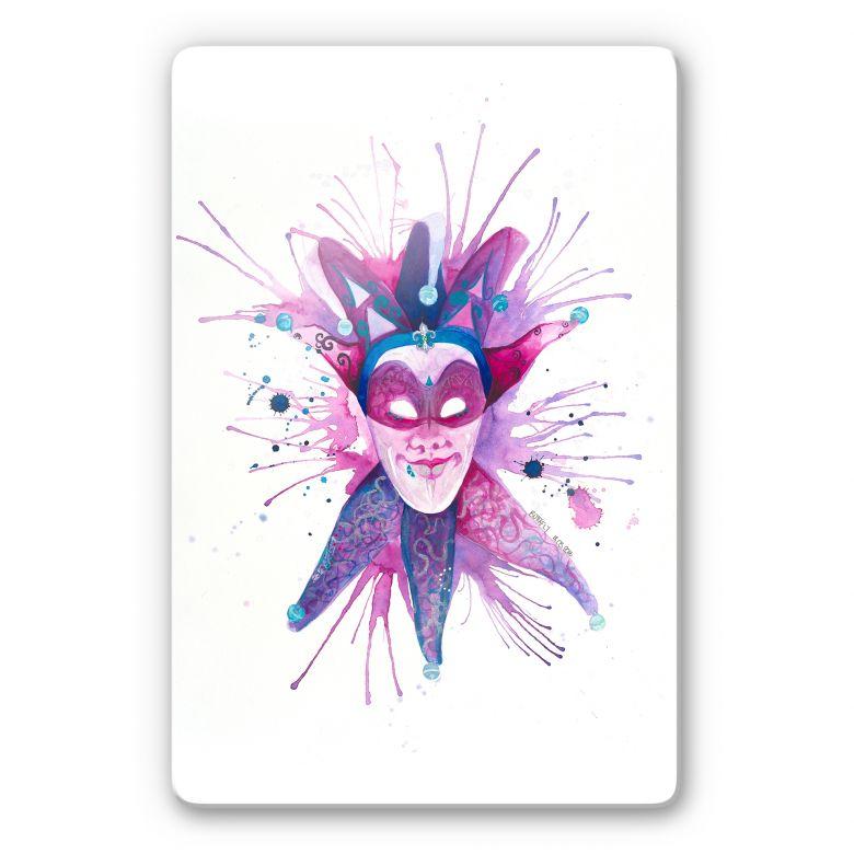 Glasbild Buttafly - Mardi Gras Mask