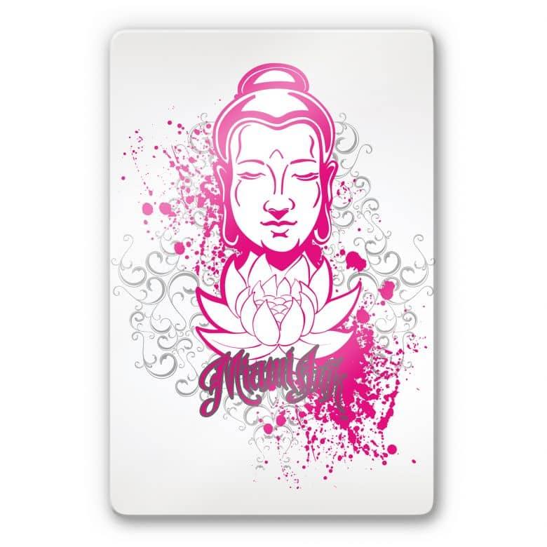 Tableau en verre - Miami Ink - Bouddha et Lotus