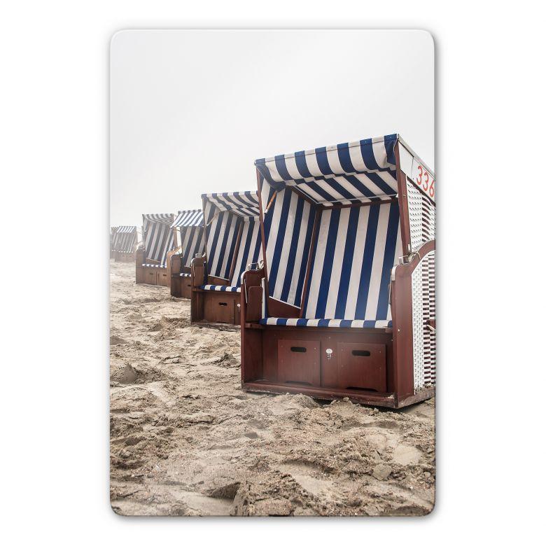 Glasbild Strandkorb auf Norderney
