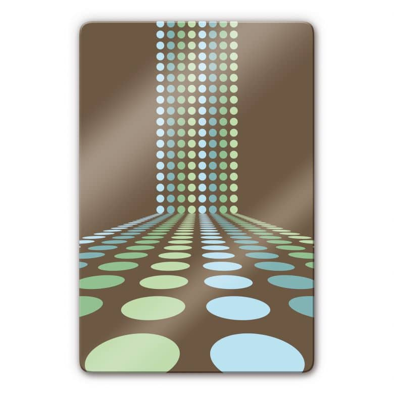 Glasbild retro punkte stylische dekoration f r ihr - Stylische wandfarben ...