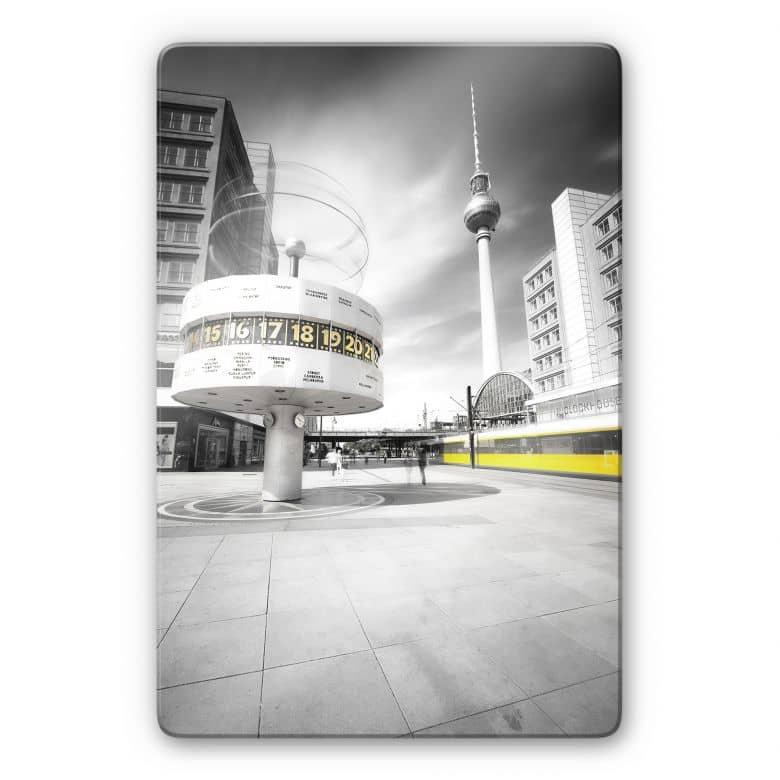 Glasbild Berlin Alexanderplatz