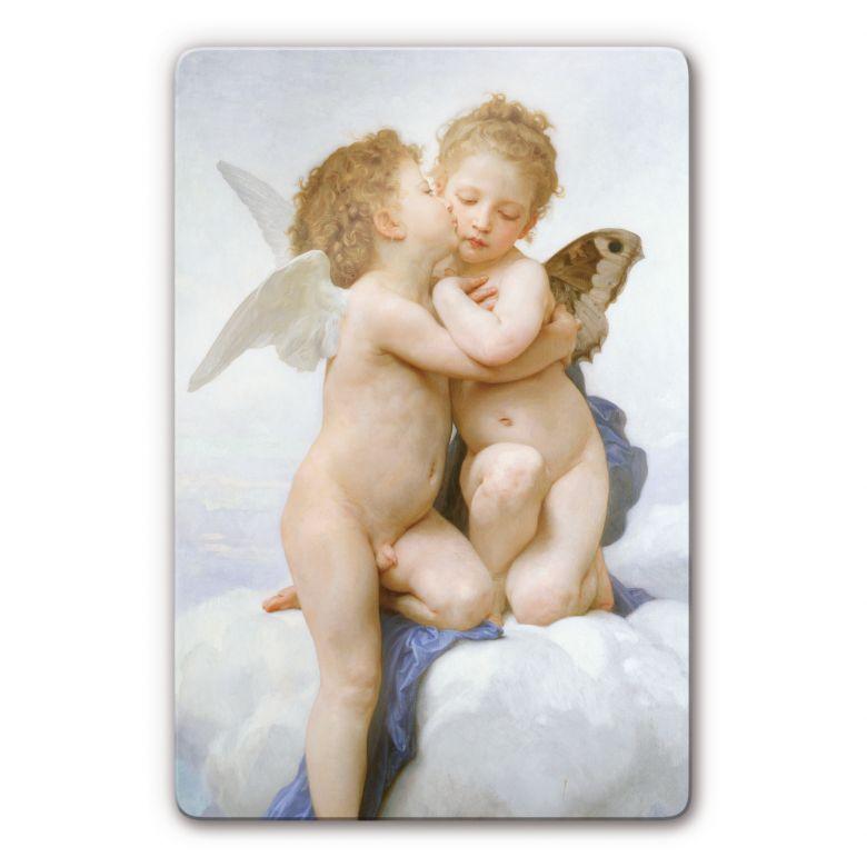Glasbild Bouguereau - Der erste Kuss