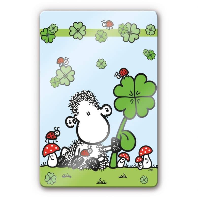 Glasbild sheepworld Ganz viel Glück