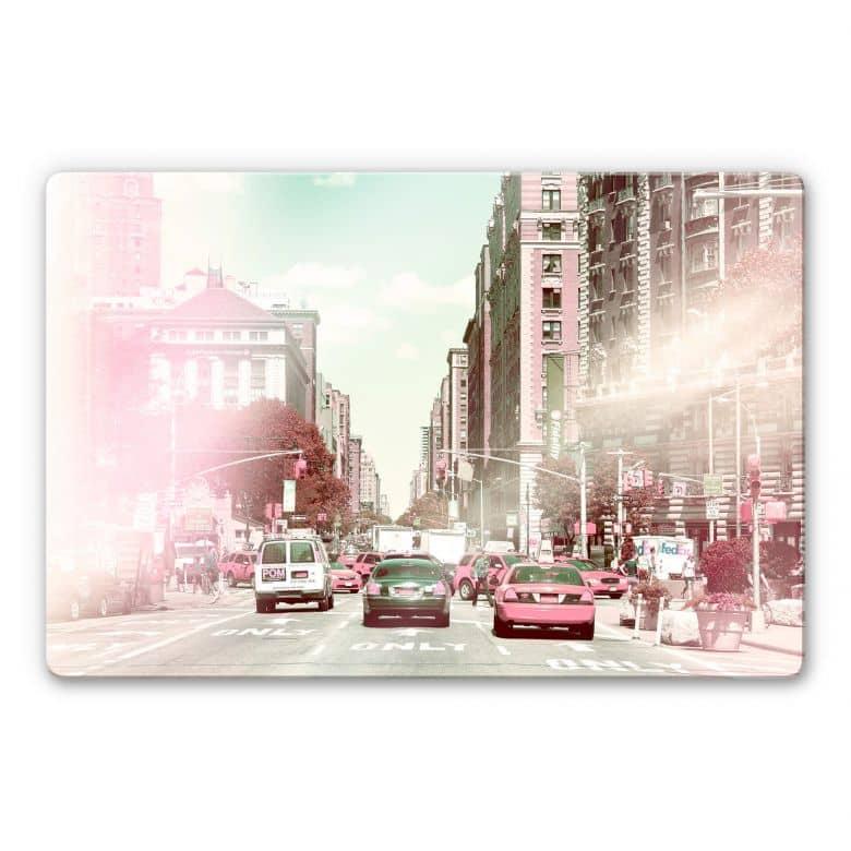 Glasbild Hugonnard - New York Pastell