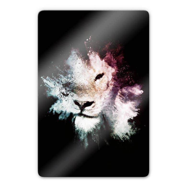 Glasbild Hugonnard - Wild Explosion: Löwe