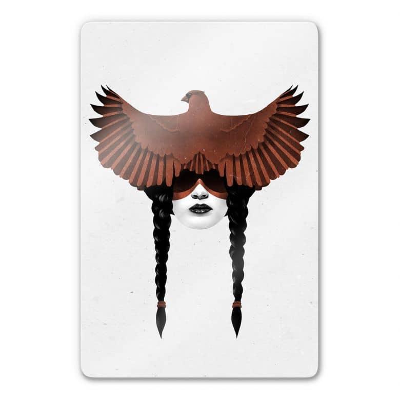 Glasbild Ireland - Dark Cardinal