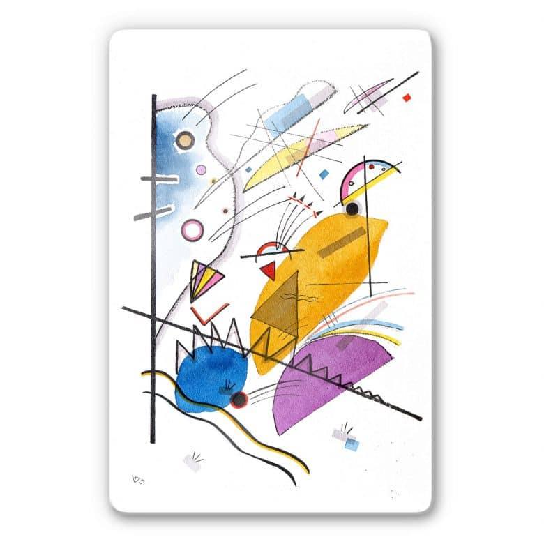 Glass Print Kandinsky - Ongoing Stripe