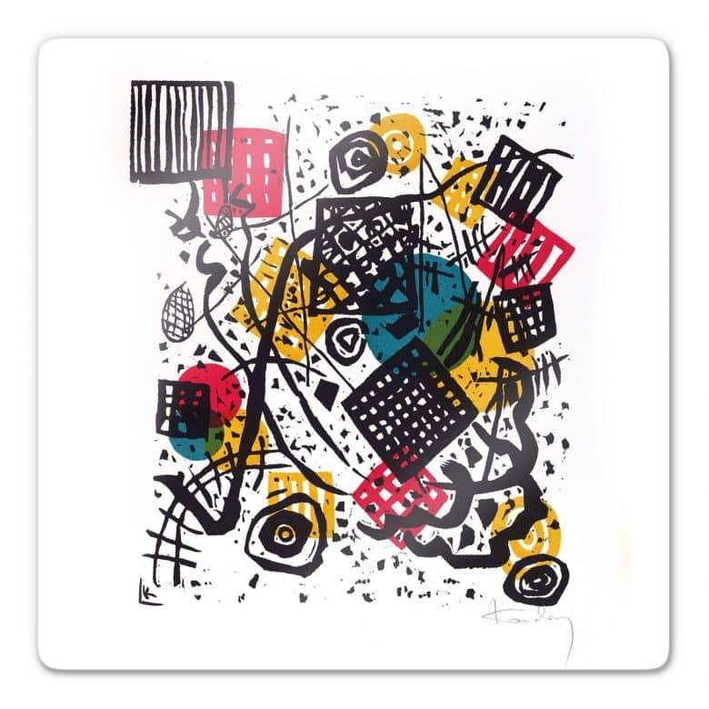 Glasbild Kandinsky - Kleine Welten V