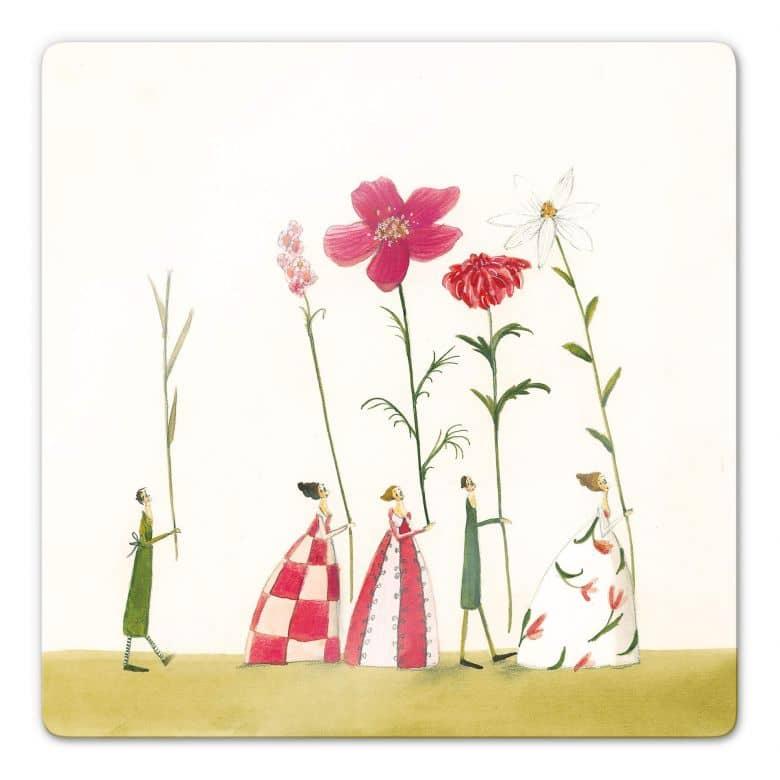 Glasbild Leffler - Blumenträger