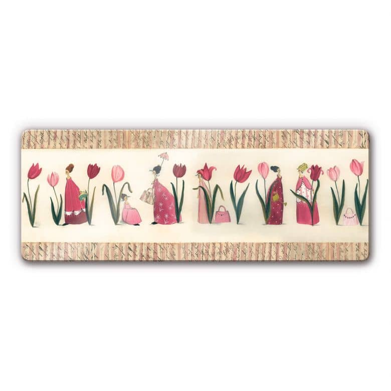 Glasbild Leffler - Tulpen