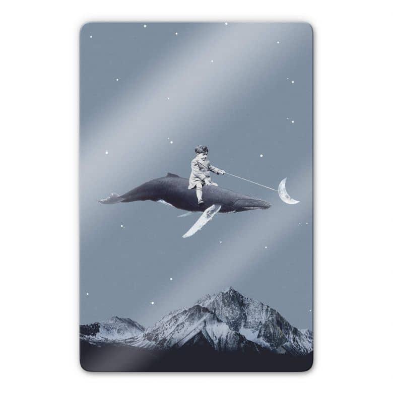 Glasbild Léon - Aim for the moon