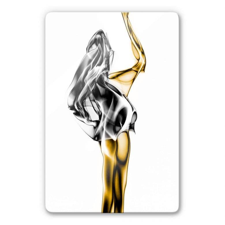 Glasbild Marini - Gold und Silber