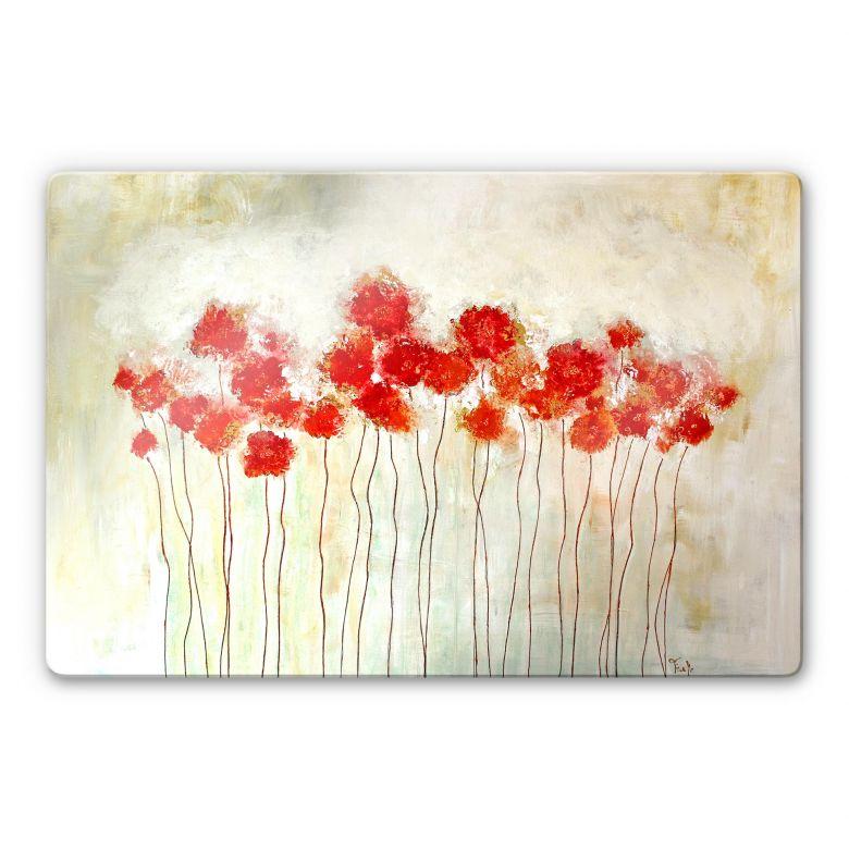Glass Print Melz - Flowers