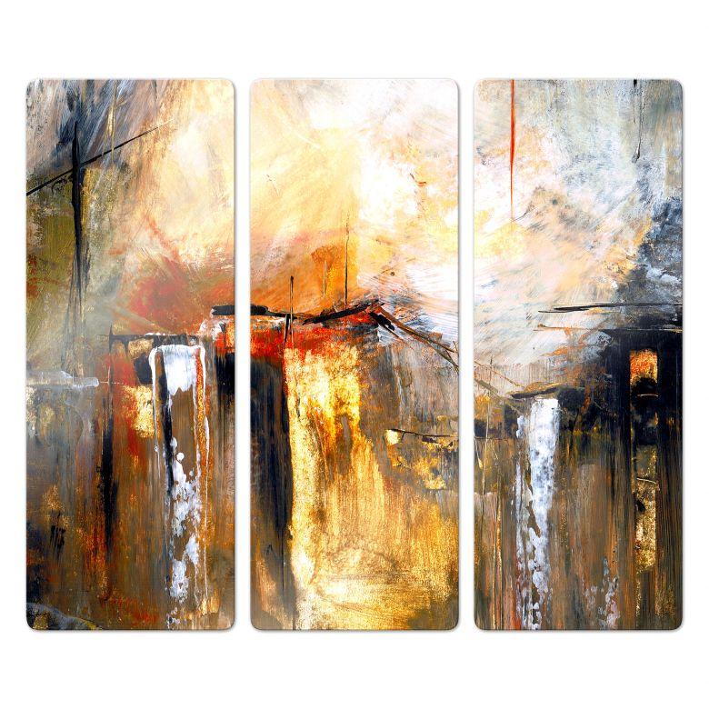 Glasbild Niksic - Licht und Landschaft (3-teilig)