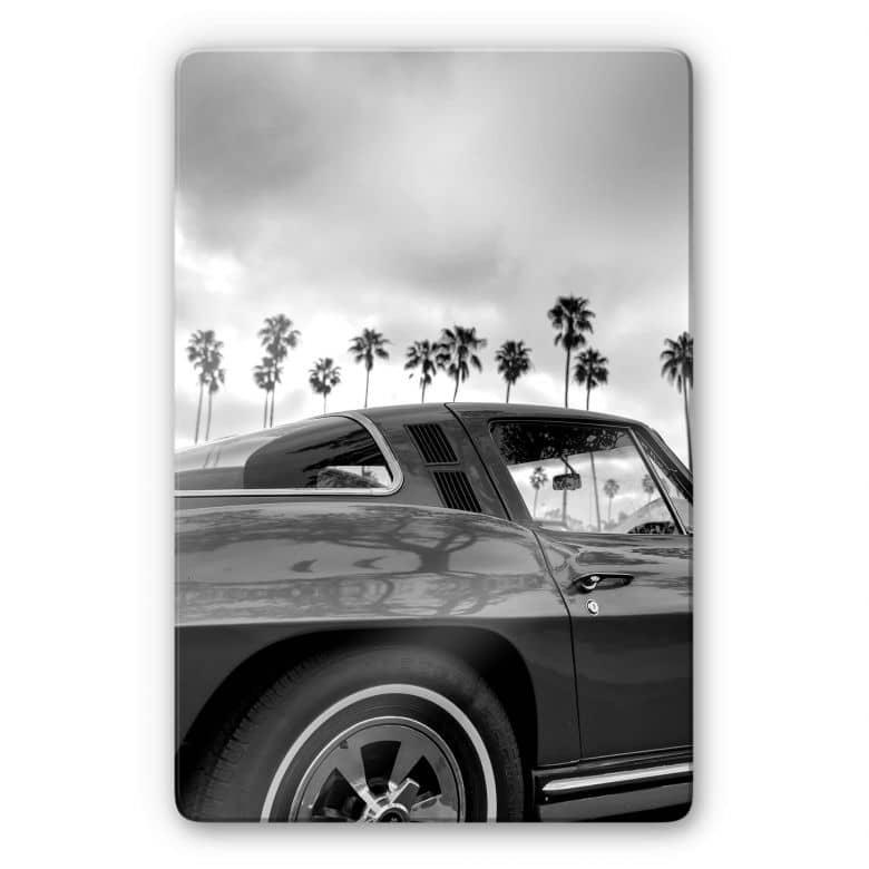 Glasbild Ochlich - California Oldtimer