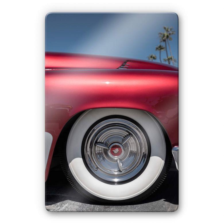 Glasbild Ochlich - Red Oldtimer