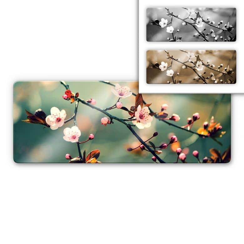 Spring Awakening Glass art - Panorama