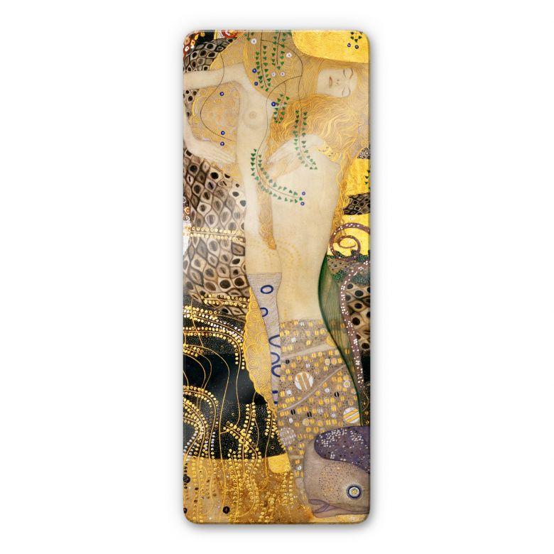 Glasbild Klimt - Wasserschlangen I.