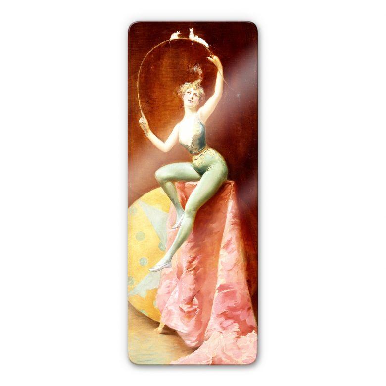 Glasbild Penot - Tänzerin mit drei weißen Mäuse