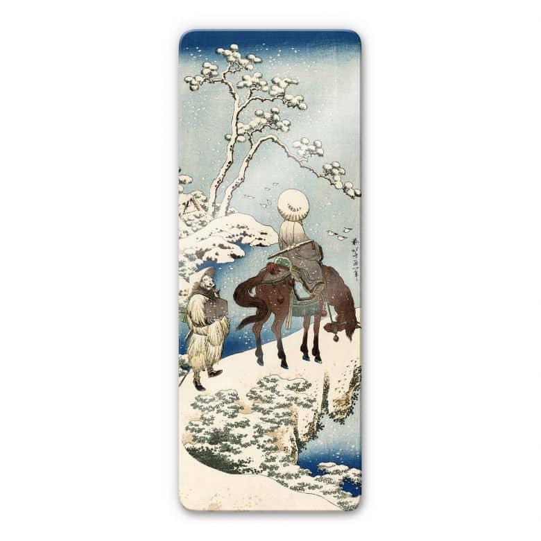 Glasbild Hokusai - Der chinesische Dichter Su Dong