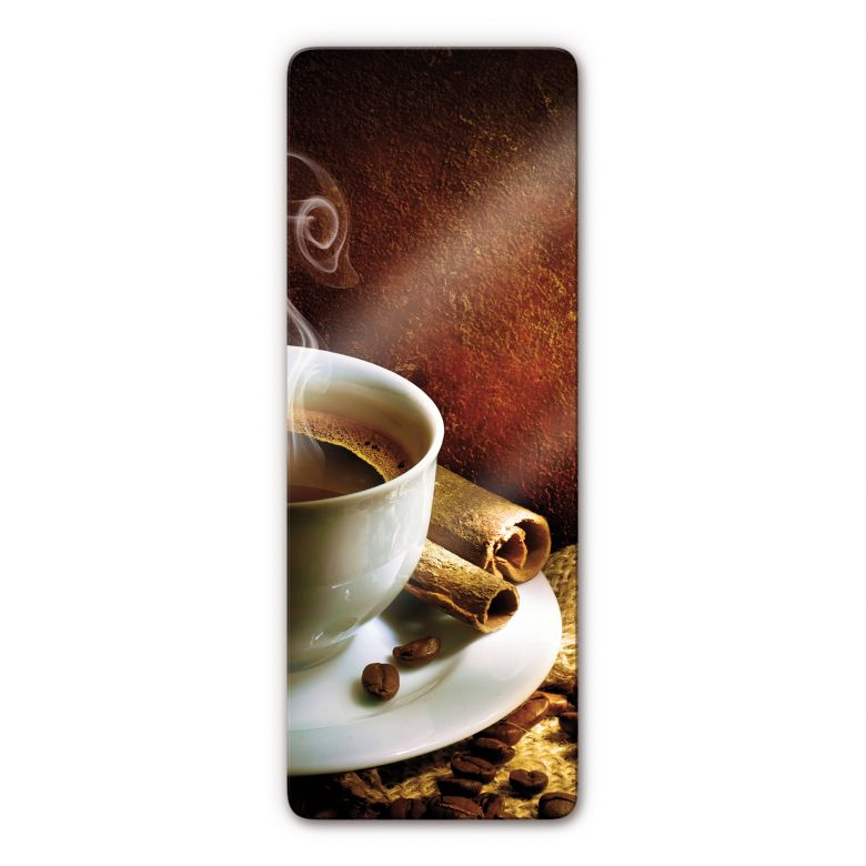 Glasbild Coffee 1 - Panorama