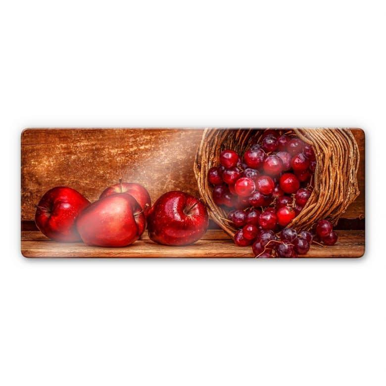 Glasbild Perfoncio - Rote Früchte - Panorama