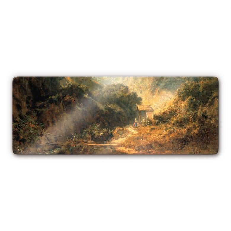 Tableau en verre - Spitzweg - Vallée rocheuse avec chapelle