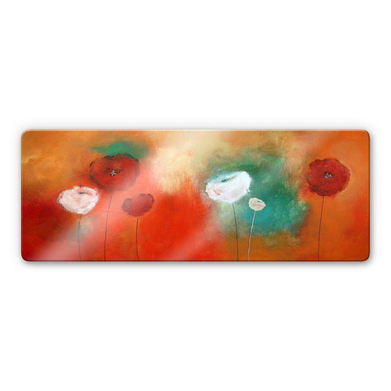 Glasbild Melz - Fleuraison