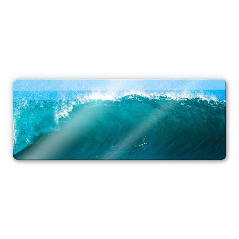 Glasbild Perfect Wave - Panorama