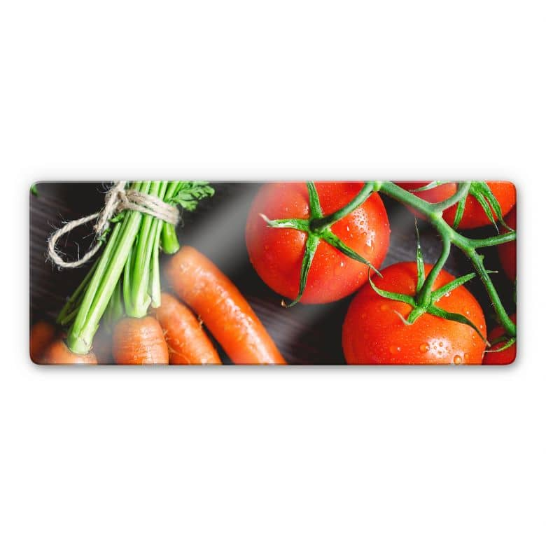 Glasbild Fresh Cooking - Panorama