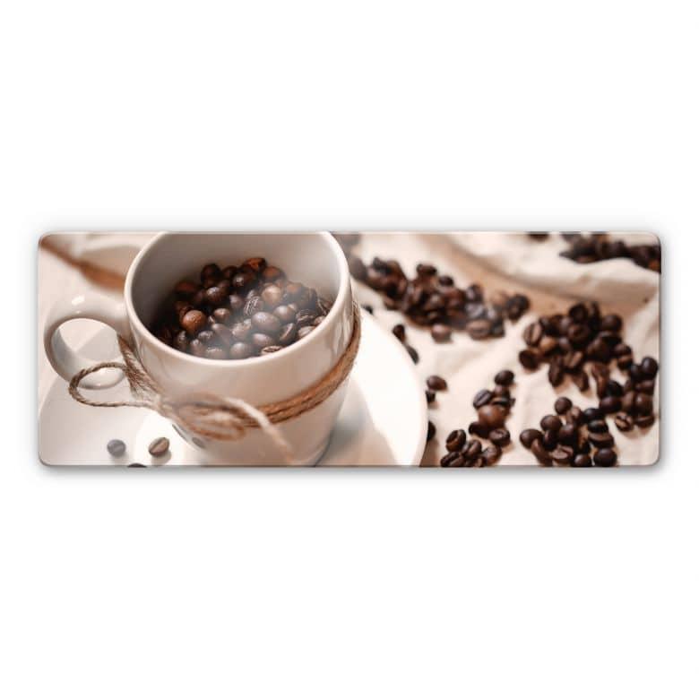 Glasbild Kaffee Zauber - Panorama