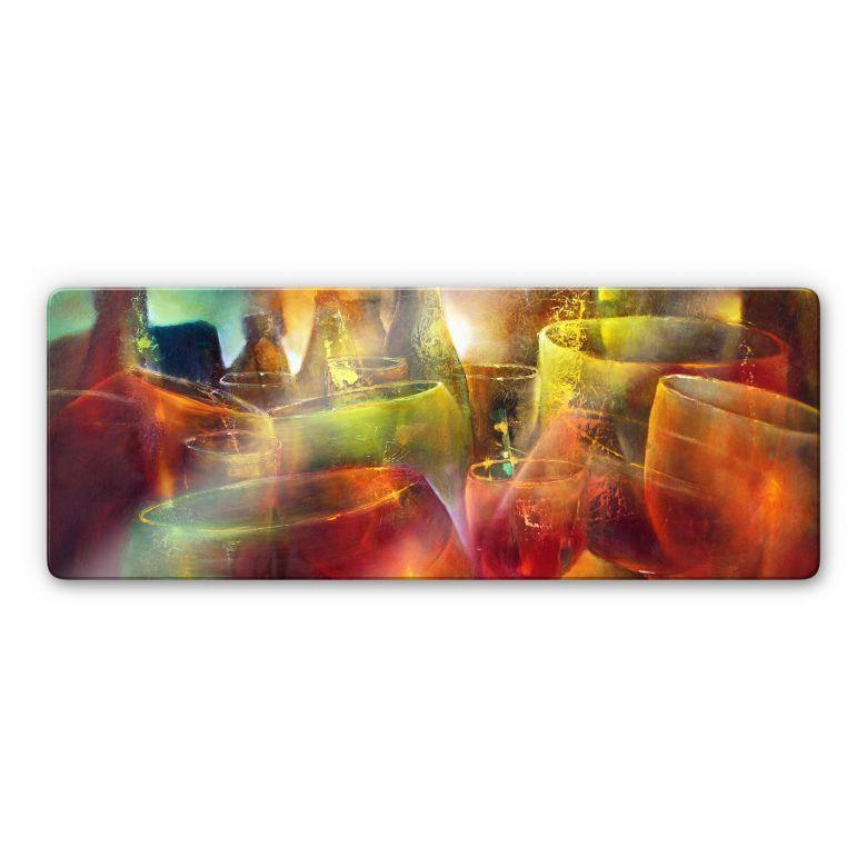 Glasbild Schmucker - Zu später Stunde – Panorama