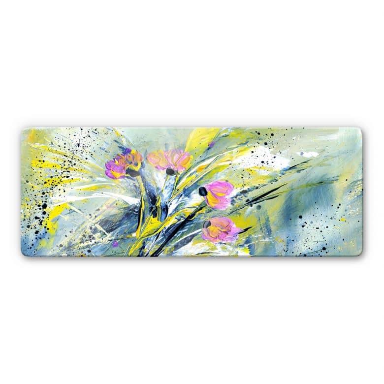Glasbild Niksic - Flower Rock 'n' Roll